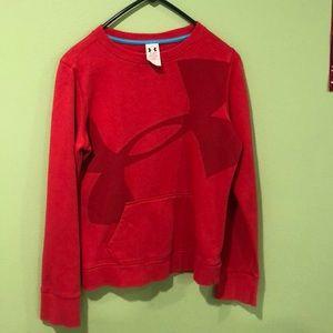 Red under armor sweatshirt